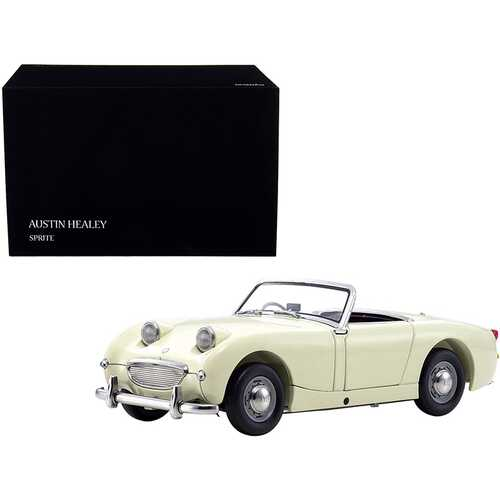 Austin Healey Sprite Convertible RHD (Right Hand Drive) Old English White with Red Interior 1/18 Diecast Model Car by Kyosho