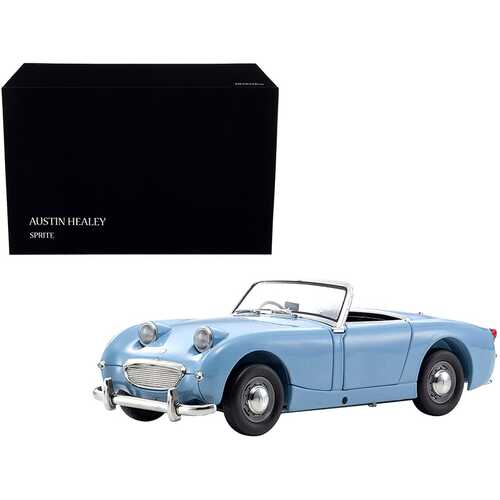 Austin Healey Sprite Convertible (Right Hand Drive) Speedwell Blue with Blue Interior 1/18 Diecast Model Car by Kyosho