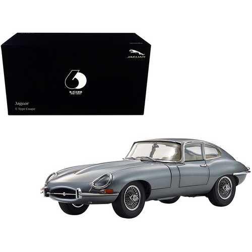 "Jaguar E-Type Coupe RHD (Right Hand Drive) Dark Gray Metallic ""E-Type 60th Anniversary"" (1961-2021) 1/18 Diecast Model Car by Kyosho"
