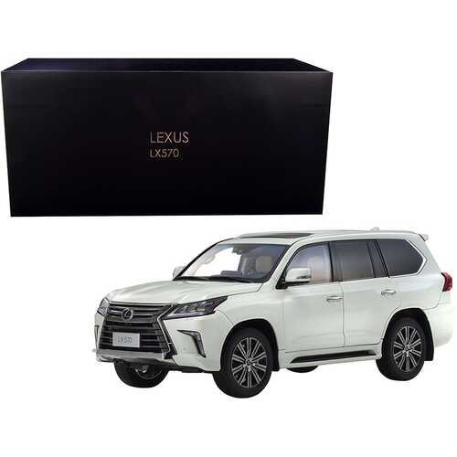 Lexus LX570 Sonic Quartz White 1/18 Diecast Model Car by Kyosho