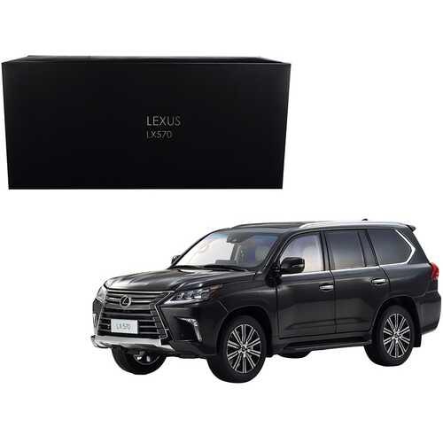 Lexus LX570 Starlight Black Metallic 1/18 Diecast Model Car by Kyosho