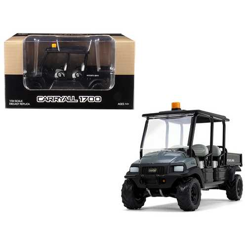 Club Car Carryall 1700 4x4 with Tilting Box Dark Gray/ Black 1/34 Diecast Model by First Gear