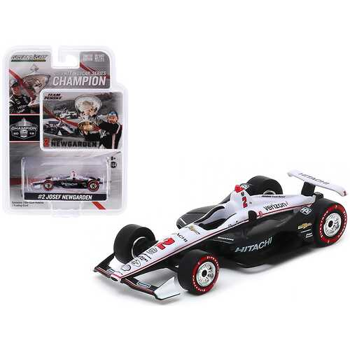 """Dallara Indy Car #2 Josef Newgarden """"Hitachi"""" """"Team Penske"""" NTT IndyCar Series Champion (2019) 1/64 Diecast Model Car by Greenlight"""