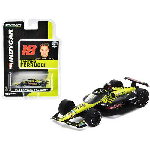 "Dallara IndyCar #18 Santino Ferrucci ""SealMaster"" Dale Coyne Racing with Vasser Sullivan ""NTT IndyCar Series"" (2020) 1/64 Diecast Model Car by Greenlight"