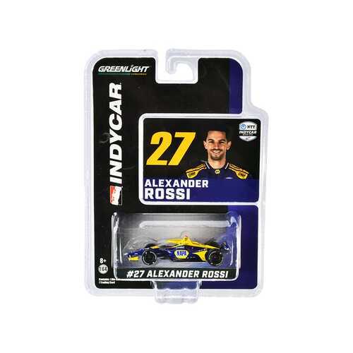 "Dallara IndyCar #27 Alexander Rossi ""NAPA Auto Parts"" Andretti Autosport ""NTT IndyCar Series"" (2020) 1/64 Diecast Model Car by Greenlight"