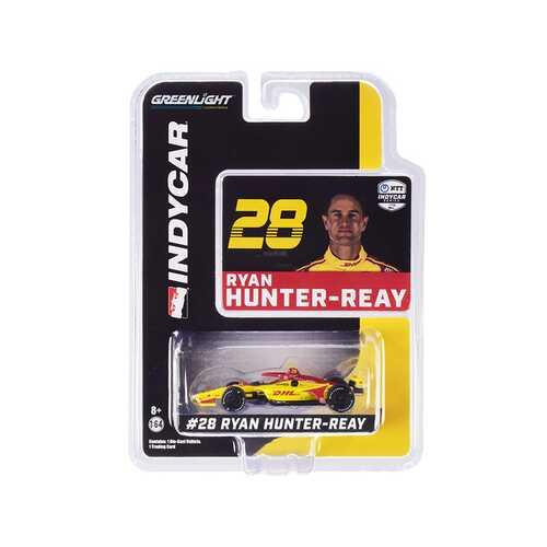 """Dallara IndyCar #28 Ryan Hunter-Reay """"DHL"""" Andretti Autosport """"NTT IndyCar Series"""" (2020) 1/64 Diecast Model Car by Greenlight"""