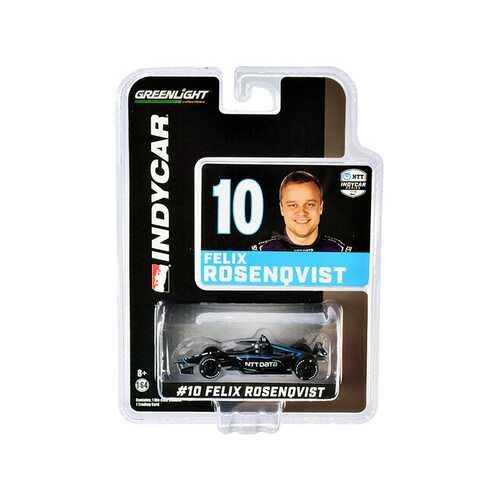 "Dallara IndyCar #10 Felix Rosenqvist ""NTT Data"" Chip Ganassi Racing ""NTT IndyCar Series"" (2020) 1/64 Diecast Model Car by Greenlight"