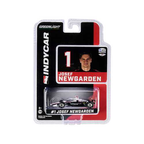"""Dallara IndyCar #1 Josef Newgarden """"Hitachi"""" Team Penske """"NTT IndyCar Series"""" (2020) 1/64 Diecast Model Car by Greenlight"""