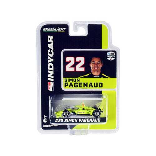 """Dallara IndyCar #22 Simon Pagenaud """"Menards"""" Team Penske """"NTT IndyCar Series"""" (2020) 1/64 Diecast Model Car by Greenlight"""