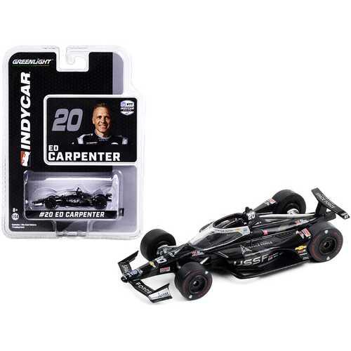 "Dallara IndyCar #20 Ed Carpenter ""United States Space Force"" (USSF) ""NTT IndyCar Series"" (2020) 1/64 Diecast Model Car by Greenlight"
