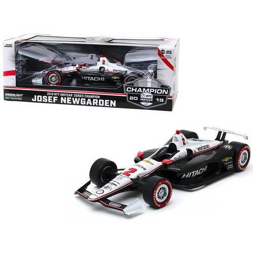 """Dallara Indy Car #2 Josef Newgarden """"Hitachi"""" Team Penske NTT IndyCar Series Champion (2019) 1/18 Diecast Model Car by Greenlight"""