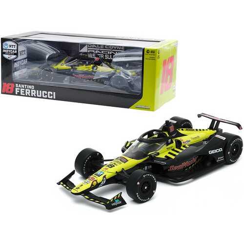 "Dallara IndyCar #18 Santino Ferrucci ""SealMaster"" Dale Coyne Racing with Vasser Sullivan ""NTT IndyCar Series"" (2020) 1/18 Diecast Model Car by Greenlight"