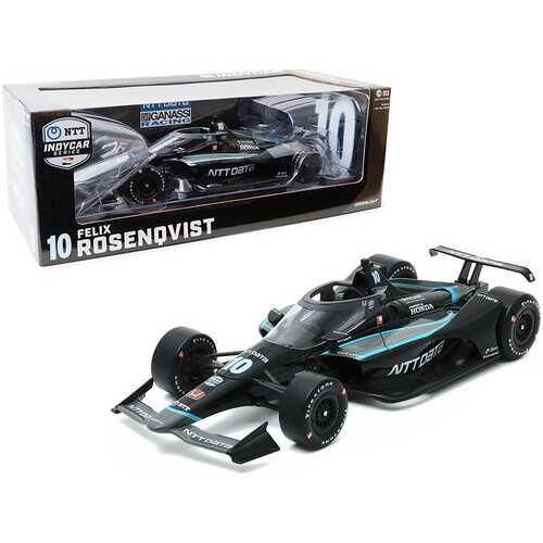 "Dallara IndyCar #10 Felix Rosenqvist ""NTT Data"" Chip Ganassi Racing ""NTT IndyCar Series"" (2020) 1/18 Diecast Model Car by Greenlight"