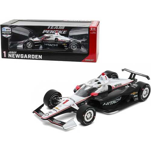"""Dallara IndyCar #1 Josef Newgarden """"Hitachi"""" Team Penske """"NTT IndyCar Series"""" (2020) 1/18 Diecast Model Car by Greenlight"""