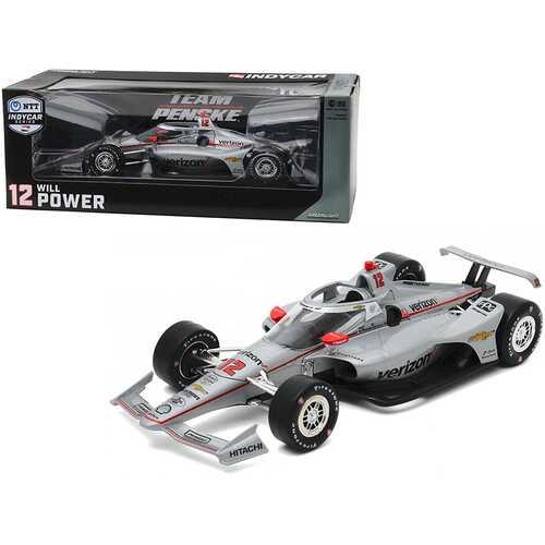 """Dallara IndyCar #12 Will Power """"Verizon"""" Team Penske """"NTT IndyCar Series"""" (2020) 1/18 Diecast Model Car by Greenlight"""