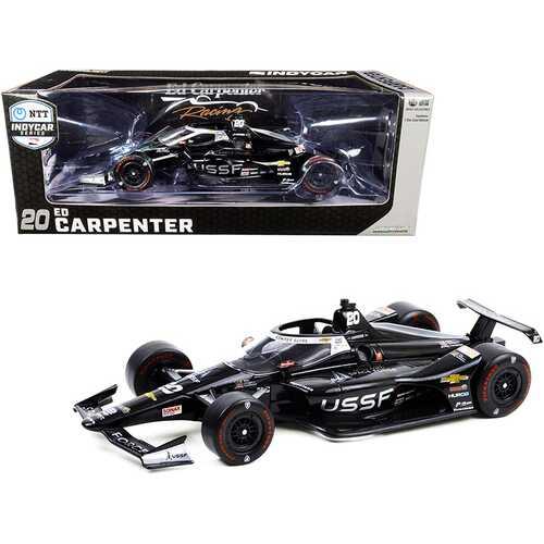 "Dallara IndyCar #20 Ed Carpenter ""United States Space Force"" (USSF) ""NTT IndyCar Series"" (2020) 1/18 Diecast Model Car by Greenlight"