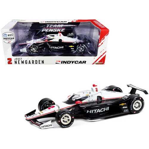 """Dallara IndyCar #2 Josef Newgarden """"Hitachi"""" Team Penske """"NTT IndyCar Series"""" (2021) 1/18 Diecast Model Car by Greenlight"""