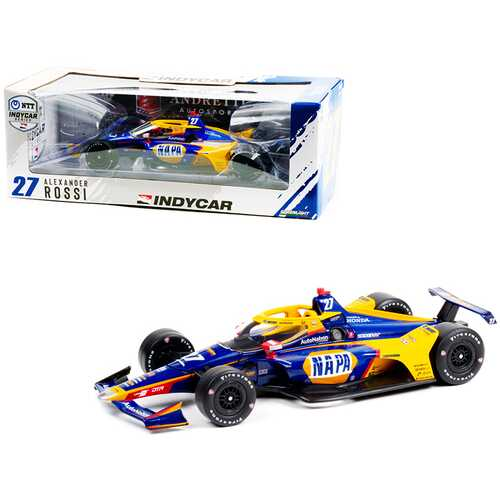 "Dallara IndyCar #27 Alexander Rossi ""NAPA Auto Parts"" Andretti Autosport ""NTT IndyCar Series"" (2021) 1/18 Diecast Model Car by Greenlight"