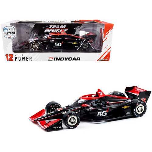 """Dallara IndyCar #12 Will Power """"Verizon 5G"""" Team Penske (Road Course Configuration) """"NTT IndyCar Series"""" (2021) 1/18 Diecast Model Car by Greenlight"""