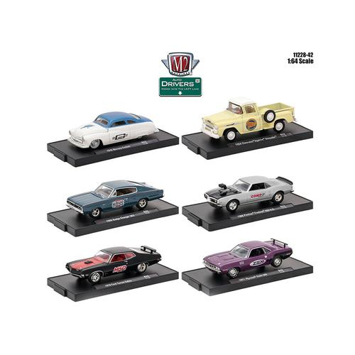 Drivers 6 Cars Set Release 42 In Blister Packs 1/64 Diecast Model Cars by M2 Machines