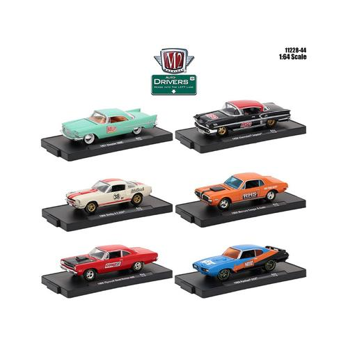 Drivers 6 Cars Set Release 44 In Blister Packs 1/64 Diecast Model Cars by M2 Machines