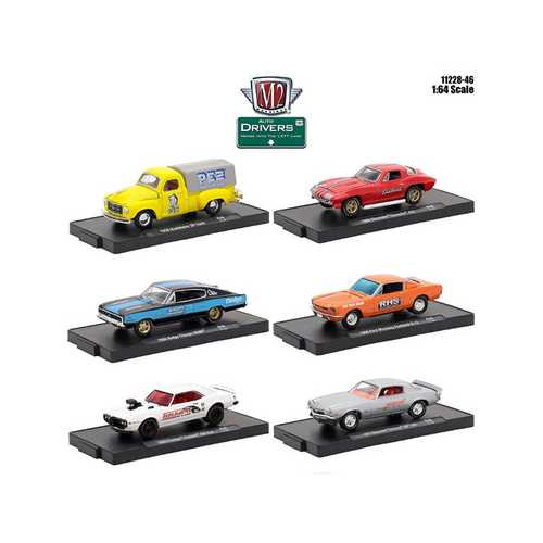 Drivers 6 Cars Set Release 46 In Blister Packs 1/64 Diecast Model Cars by M2 Machines