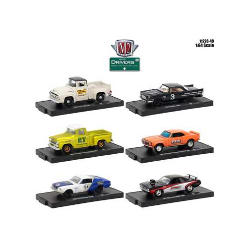 Drivers 6 Cars Set Release 49 In Blister Packs 1/64 Diecast Model Cars by M2 Machines