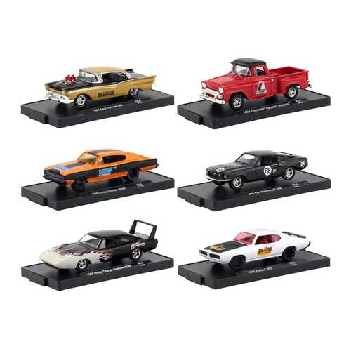 Drivers 6 Cars Set Release 54 in Blister Packs 1/64 Diecast Model Cars by M2 Machines