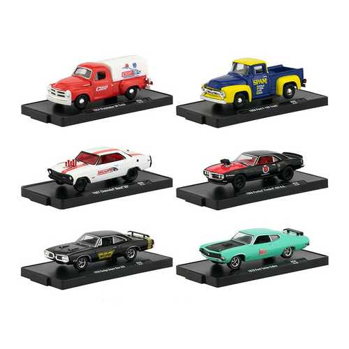 Drivers 6 Cars Set Release 56 in Blister Packs 1/64 Diecast Model Cars by M2 Machines