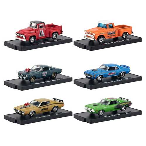 Drivers 6 Cars Set Release 60 in Blister Packs 1/64 Diecast Model Cars by M2 Machines
