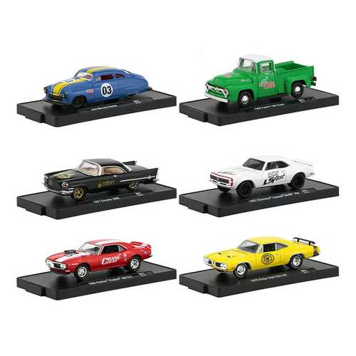 Drivers 6 Cars Set Release 61 in Blister Packs 1/64 Diecast Model Cars by M2 Machines