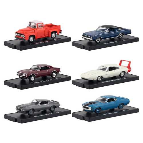 Drivers 6 Cars Set, Release 62 in Blister Packs 1/64 Diecast Model Cars by M2 Machines