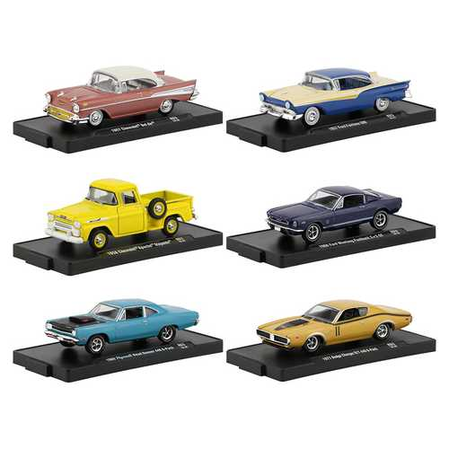 Drivers 6 Cars Set, Release 63 in Blister Packs 1/64 Diecast Model Cars by M2 Machines