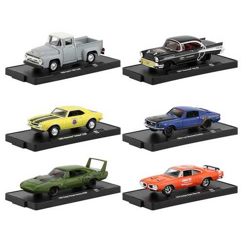 """""""Drivers"""" Set of 6 pieces in Blister Packs Release 65 1/64 Diecast Model Cars by M2 Machines"""