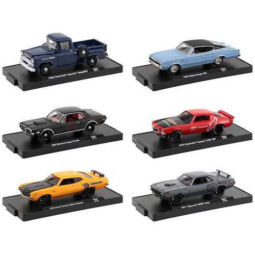 """""""Drivers"""""""" Set of 6 pieces in Blister Packs Release 66 1/64 Diecast Model Cars by M2 Machines"""