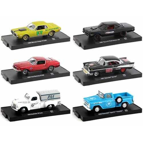 """""""Drivers"""" Set of 6 pieces in Blister Packs Release 68 Limited Edition to 6750 pieces Worldwide 1/64 Diecast Model Cars by M2 Machines"""