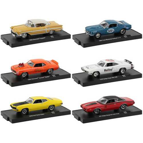 """""""Drivers"""" Set of 6 pieces in Blister Packs Release 69 Limited Edition to 6000 pieces Worldwide 1/64 Diecast Model Cars by M2 Machines"""