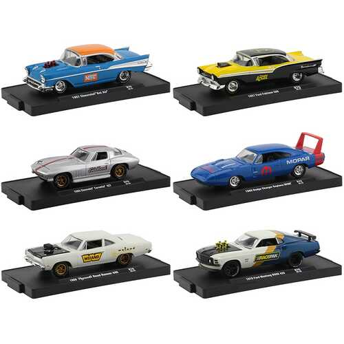 """""""Drivers"""" Set of 6 pieces in Blister Packs Release 70 Limited Edition to 7000 pieces Worldwide 1/64 Diecast Model Cars by M2 Machines"""
