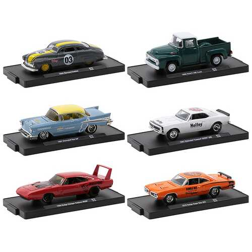 """""""Drivers"""" Set of 6 pieces in Blister Packs Release 72 Limited Edition to 7980 pieces Worldwide 1/64 Diecast Model Cars by M2 Machines"""