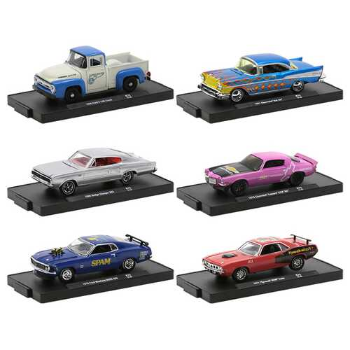 """""""Auto-Drivers"""" Set of 6 pieces in Blister Packs Release 73 Limited Edition to 8480 pieces Worldwide 1/64 Diecast Model Cars by M2 Machines"""