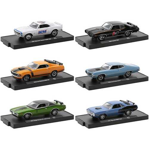 """""""Auto-Drivers"""" Set of 6 pieces in Blister Packs Release 74 Limited Edition to 8480 pieces Worldwide 1/64 Diecast Model Cars by M2 Machines"""