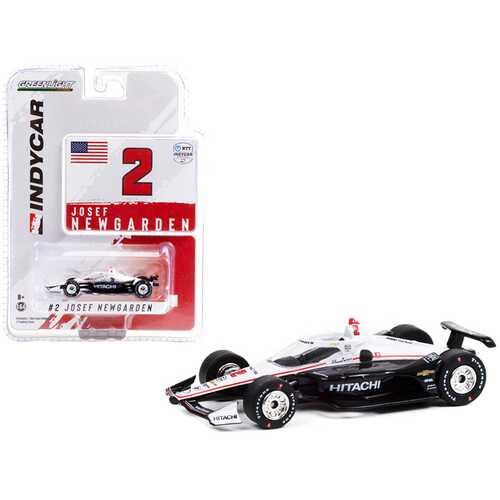 """Dallara IndyCar #2 Josef Newgarden """"Hitachi"""" Team Penske """"NTT IndyCar Series"""" (2021) 1/64 Diecast Model Car by Greenlight"""