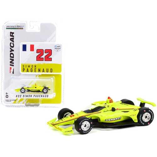 """Dallara IndyCar #22 Simon Pagenaud """"Menards"""" Team Penske """"NTT IndyCar Series"""" (2021) 1/64 Diecast Model Car by Greenlight"""