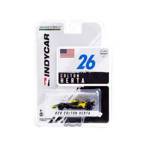 """Dallara IndyCar #26 Colton Herta """"Gainbridge"""" Andretti Autosport """"NTT IndyCar Series"""" (2021) 1/64 Diecast Model Car by Greenlight"""