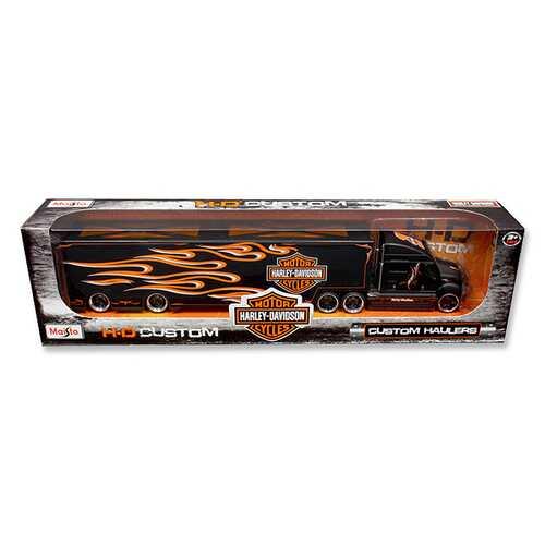 "Harley Davidson Custom Hauler Trailer Black ""Custom Haulers"" Series 1/64 Diecast Model by Maisto"