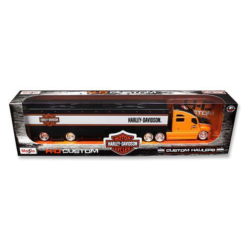 Harley Davidson Custom Hauler Trailer Orange 1/64 Diecast Model by Maisto