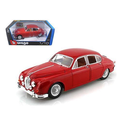 1959 Jaguar Mark II Red 1/18 Diecast Car Model by Bburago