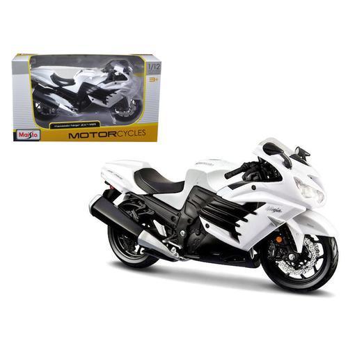 2012 Kawasaki Ninja ZX-14R White Motorcycle 1/12 by Maisto