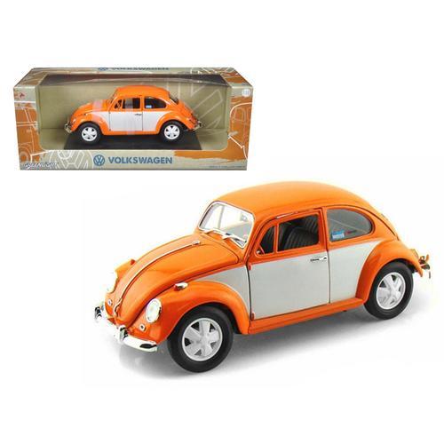1967 Volkswagen Beetle Orange/White 1/18 Diecast Model Car by Greenlight