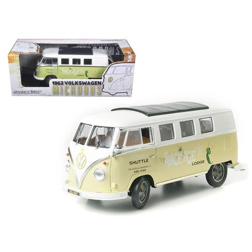 """1962 Volkswagen Microbus """"Space Age Lodge"""" Cream 1/18 Diecast Model Car by Greenlight"""